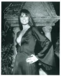 Caroline Munro signed 10 by 8 star of Dracula, Sinbad, Bond #16